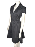 DVF - ROBE CHEMISIER EN COTON STRETCH NOIRE