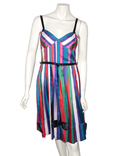 * ROBE A RAYURES MULTICOLORES