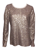 ZADIG DELUXE - PULL A SEQUINS LAINE ET CACHEMIRE