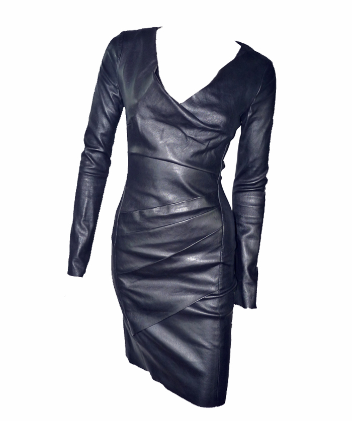 Robe cuir luxe